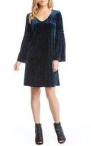 Karen Kane Women's Bell Sleeve Velvet Shift Dress