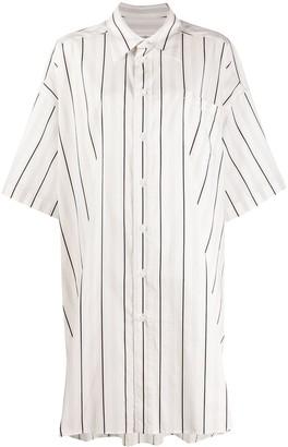 Maison Margiela striped oversize shirt
