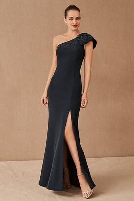 Aidan Mattox Ryanne Dress By in Blue Size 6