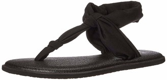 Sanuk Girl's Lil Yoga Sling Ella (Little Kid/Big Kid) Black 13-1 Little Kid