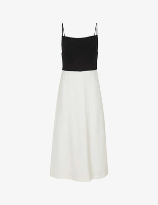 Reiss Isabella contrast-skirt chiffon dress