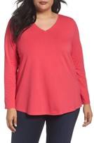Sejour Plus Size Women's V-Neck Tee