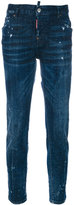 DSQUARED2 paint splatter straight jeans - women - Cotton/Spandex/Elastane - 36