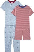 The Little White Company Cotton pyjamas pack of two 6-12 years