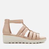 Clarks Women's Jilian Nina Leather Wedged Sandals - Blush