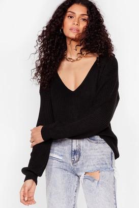 Nasty Gal Womens 'Til V Work It Out Knitted Jumper - Black - S