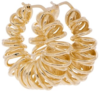 Bottega Veneta 18kt Gold-Plated Coil Hoop Earrings