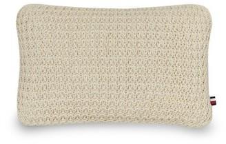 "Tommy Hilfiger Macrame Cotton Indoor / Outdoor 12"" Lumbar Pillow"
