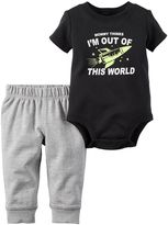 Carter's Baby Boy Graphic Short Sleeve Bodysuit & Pants Set