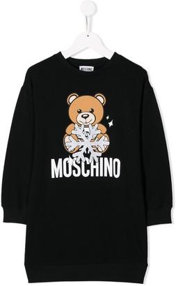 MOSCHINO BAMBINO Snowflake Teddy Dress