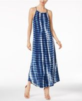 NY Collection Striped Maxi Dress