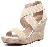 Walnut Melbourne New Dusty Wedge Natural Womens Shoes Casual Sandals Heeled