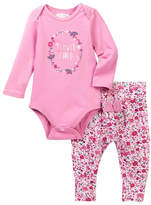 Jessica Simpson Flower Child Bodysuit & Pant Set (Baby Girls)