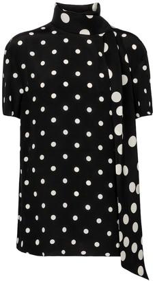 Valentino polka-dot silk blouse