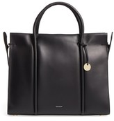 Skagen Katryn Recessed Leather Satchel - Black