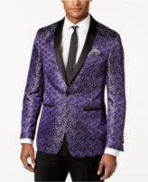 Tallia Men's Slim-Fit Purple Floral Dinner Jacket