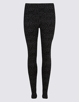 M&S Collection Cotton Rich Animal Print Leggings