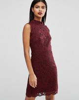 Ted Baker Latoya High Neck Mini Dress in Lace