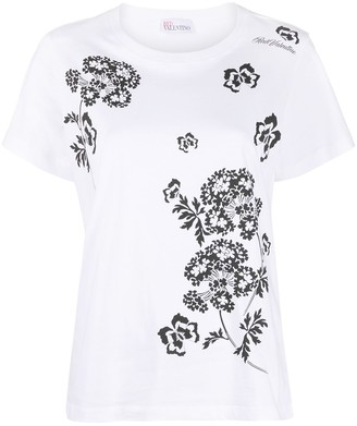 RED Valentino floral-print T-shirt