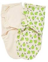 SwaddleMe®; Original Swaddle Organic Ivory and Apple 2 Pack (Small/Medium)