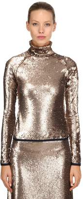 Stella Jean Sequined Long Sleeve Top