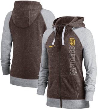 Nike Women's Brown San Diego Padres In Pocket Gym Vintage Full-Zip Hoodie