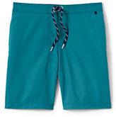 Classic Men's Side Stripe Board Shorts-Black/White Canvas Fairisle