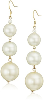 Kenneth Jay Lane 5079ELC Earrings Gold/Pearl One Size