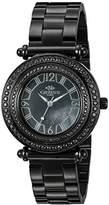 Adee Kaye Women's ON8182N-LIPB/BK-C BELLO COLLECTION Analog Display Swiss Quartz Black Watch