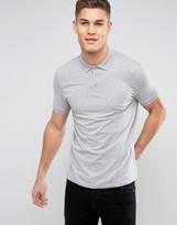 Asos Polo Shirt In Gray
