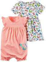 Carter's 2-Pc. Butterfly Romper & Dress Set, Baby Girls (0-24 months)