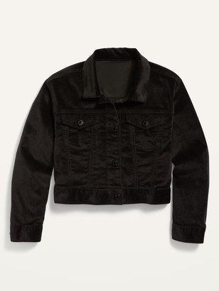 Old Navy Cropped Velvet Jacket for Girls