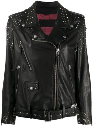 Golden Goose Studded Star Biker Jacket