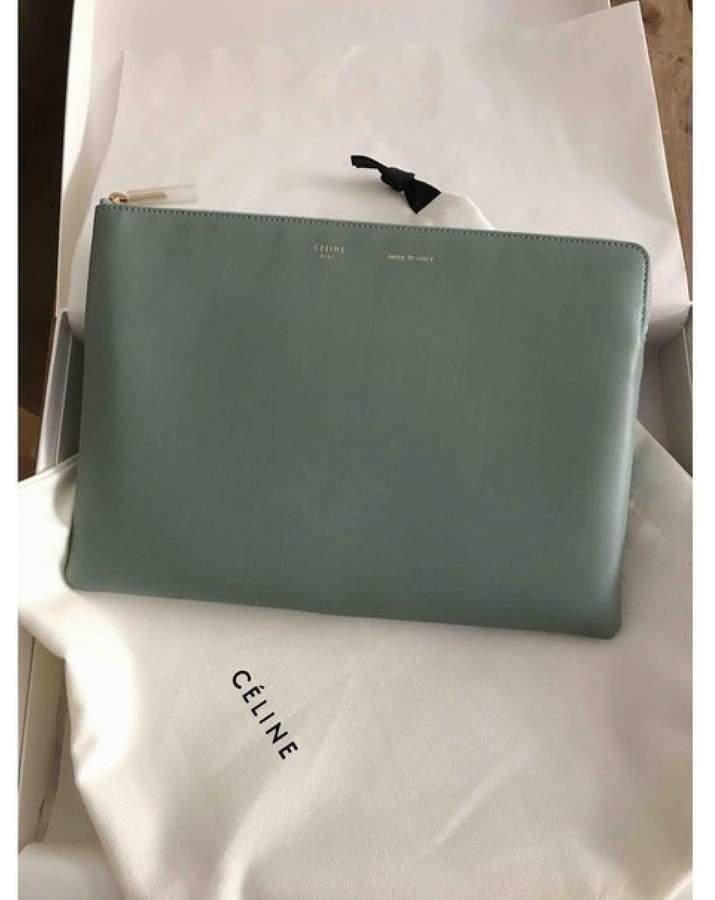 Leather Clutch Sac Green Plastique Bag ul35TF1JcK