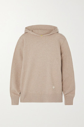 Tory Sport French Cotton-terry Hoodie - Beige