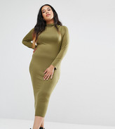 Missguided Plus Missguided Exclusive Plus Size High Neck Midi Dress