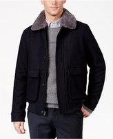 Tasso Elba Men's Dean Removable Faux-Fur Collar Flight Jacket, Only at Macy's