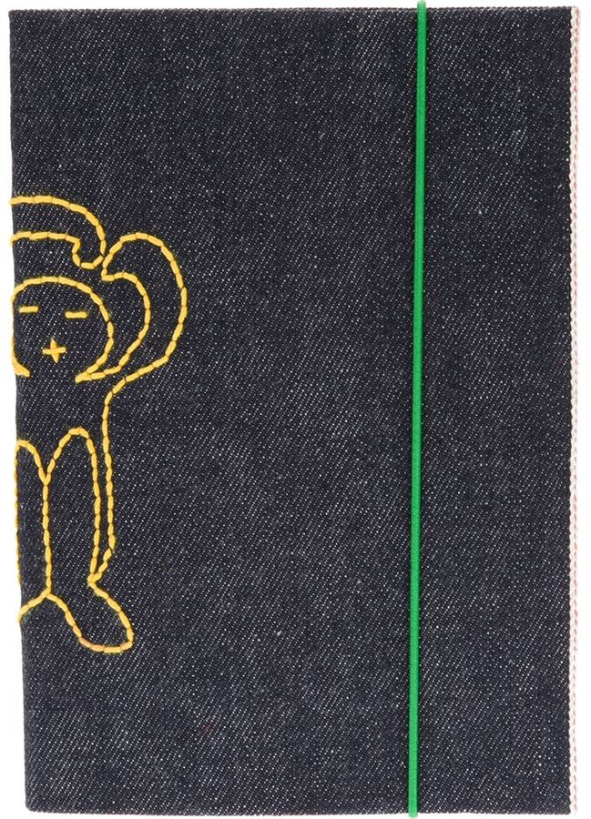 Societe Anonyme logo embroidered sketchbook