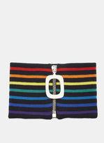 J.w. Anderson Striped Zipped Neckband In Multicolour