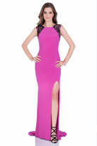 Terani Couture 1613P0631A Embellished Jewel Neck Sheath Dress