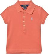 Ralph Lauren Pink Stretch Mesh Pique Polo