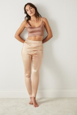 Out From Under Mi Amor Satin Leggings - Metallic XS at Urban Outfitters