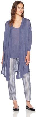 Anne Klein Women's Soft Linen Drape Cardigan