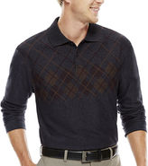 Haggar Long-Sleeve Jacquard Knit Polo