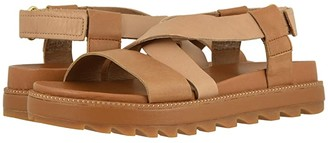 Sorel Roamingtm Crisscross Sandal (Camel Brown) Women's Shoes