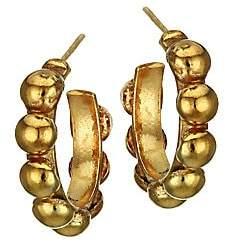 Sylvia Toledano Women's Mini Creole 22K Goldplated Hoop Earrings