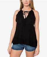 O'Neill Juniors' Nessie Tie-Front Ruffle Top, A Macy's Exclusive