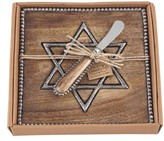 Mud Pie Star Of David Wood Cutting Board & Spreader