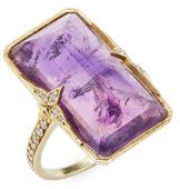 Ila Violeta Amethyst & Diamond Ring