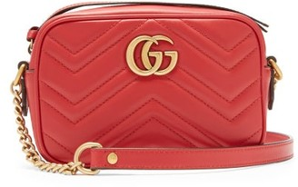 Gucci Gg Marmont Mini Quilted Leather Cross Body Bag - Womens - Red